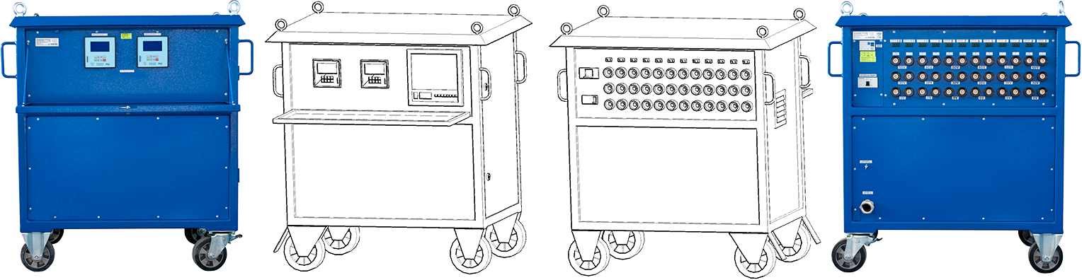 Wyżarzarki oporowe dwunastokanałowe (12-kanałów) z regulatorami temperatur P62 do przeprowadzania obróbek cieplnych