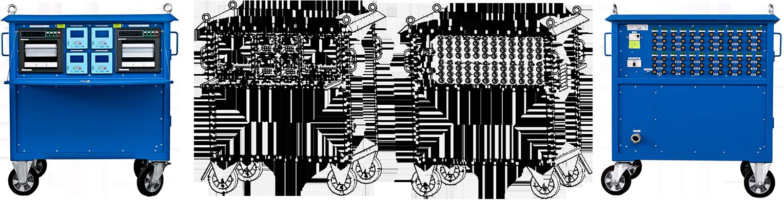 Wyżarzarki oporowe dwudziestoczterokanałowe (24-kanały) z regulatorami temperatur P62 do przeprowadzania obróbek cieplnych
